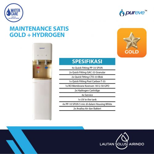 PAKET SERVICE RO DISPENSER SATIS GOLD + HYDROGEN