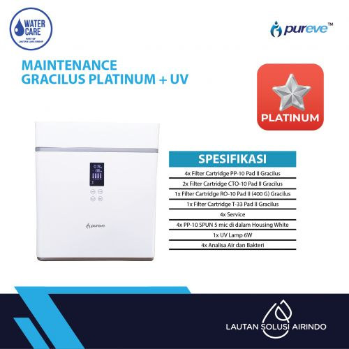 PAKET SERVICE RO DISPENSER GRACILUS PLATINUM + UV