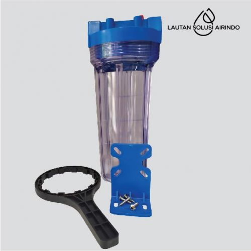 FILTER HOUSING 121-10A BRASS  BLUE TRANSPARAN