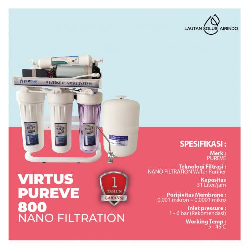 PUREVE WATER PURIFIER VIRTUS 800