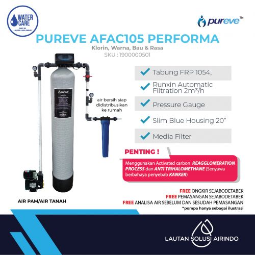 PUREVE WATER FILTER PACKAGE AFAC105 PERFORMA PRO