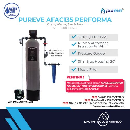 PUREVE WATER FILTER PACKAGE AFAC135 PERFORMA PRO
