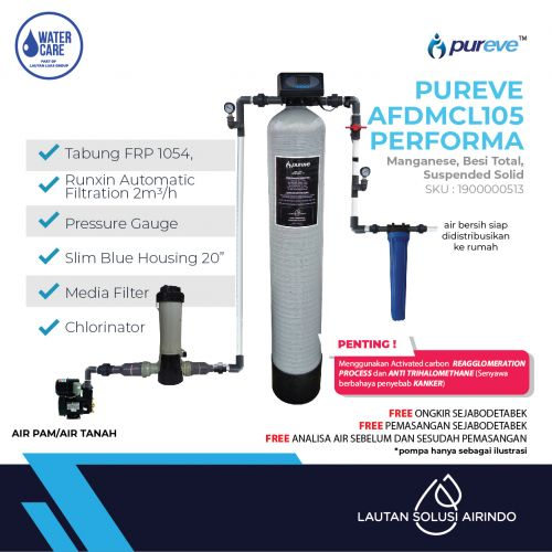 PUREVE WATER FILTER PACKAGEE AFDMCL105 PEFORMA PRO