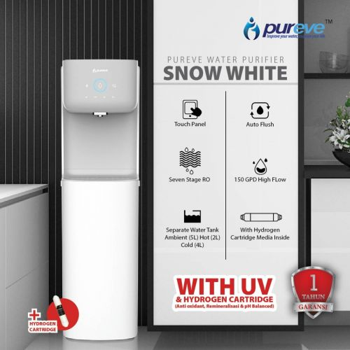 PUREVE WATER PURIFIER REVERSE OSMOSIS DISPENSER SNOW WHITE