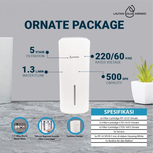 PUREVE WATER PURIFIER RO ORNATE PACKAGE